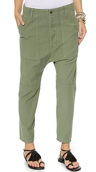Citizens of Humanity Premium Vintage Surplus Sadie Utility Pants In Combat Green