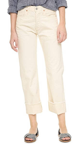 Citizens Of Humanity Parker Relaxed Cuffed Crop Jeans - Natural at Shopbop