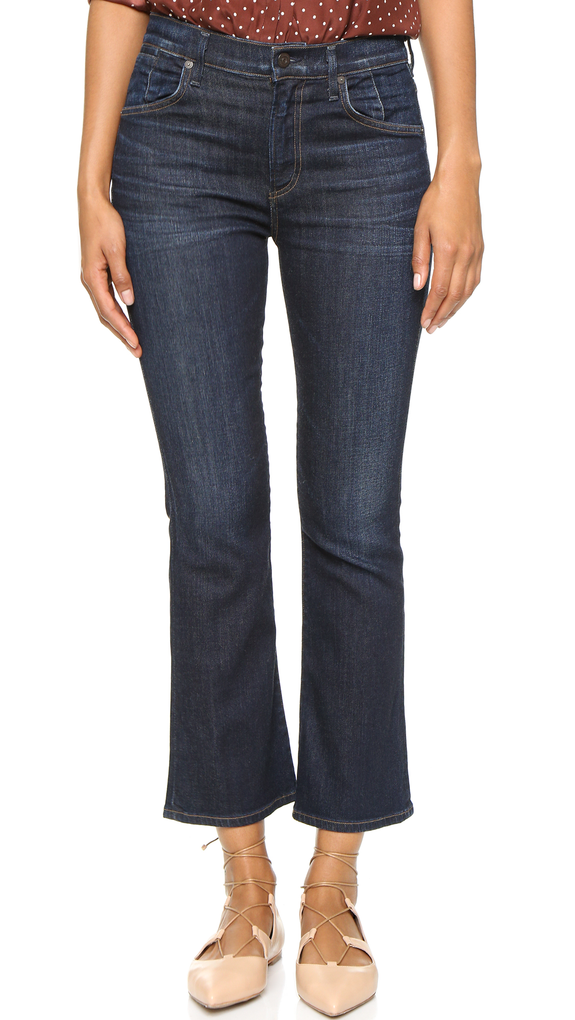 Citizens Of Humanity Fleetwood High Rise Crop Flare Jeans - Icon at Shopbop