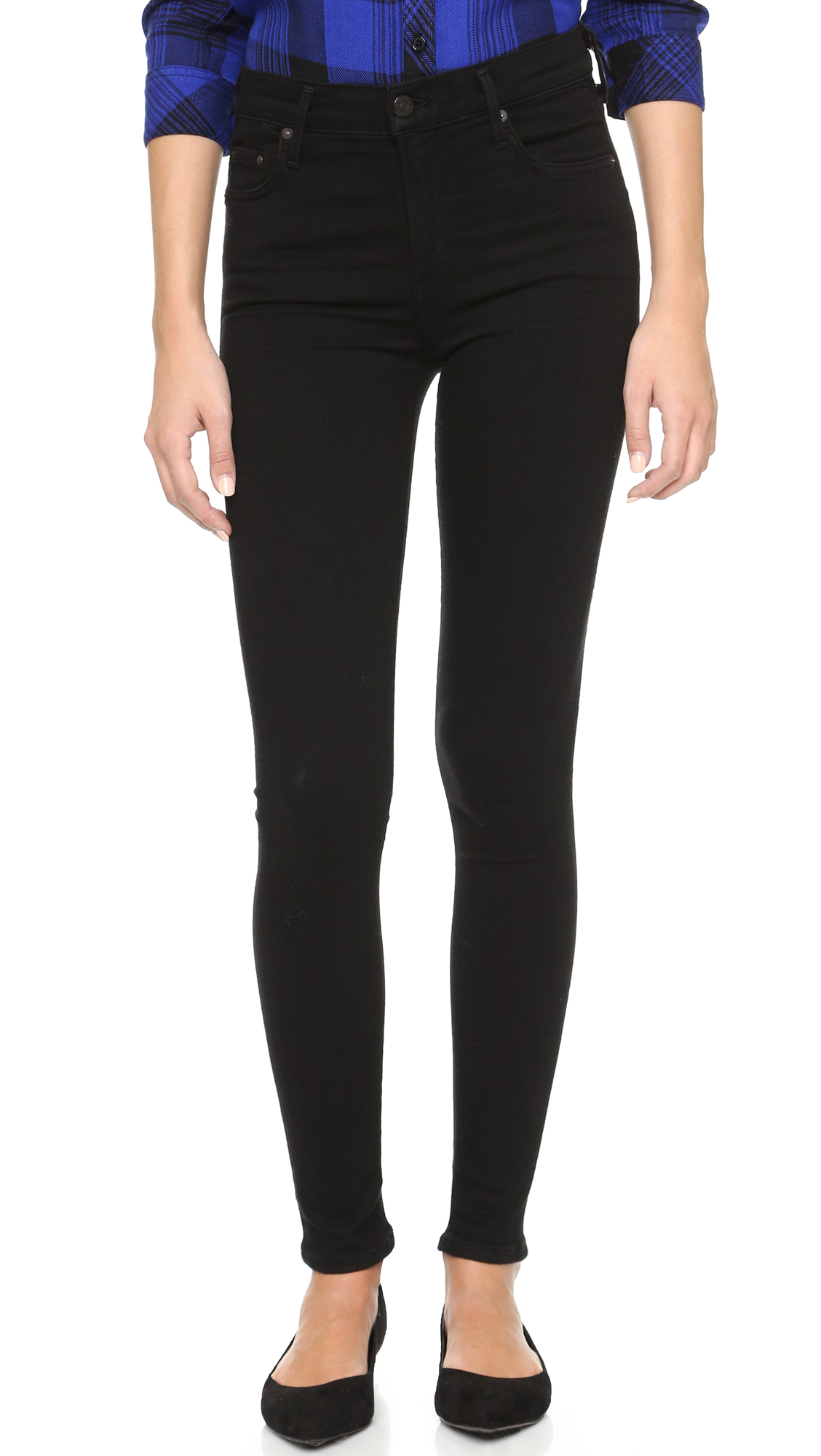Citizens Of Humanity Rocket High Rise Skinny Jeans - All Black at Shopbop