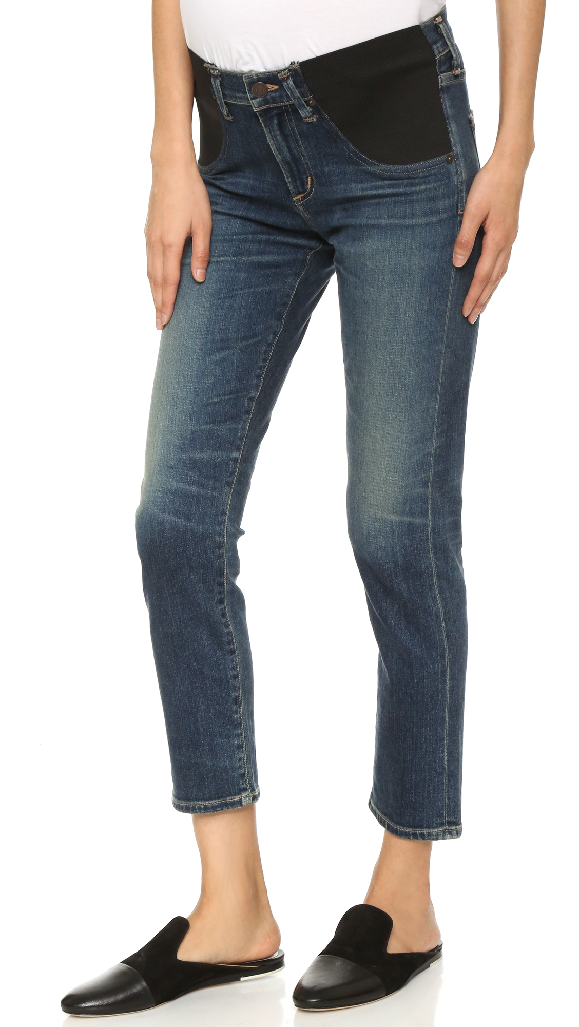 Citizens Of Humanity The Principle Maternity Girlfriend Jeans - Prussian Blue at Shopbop