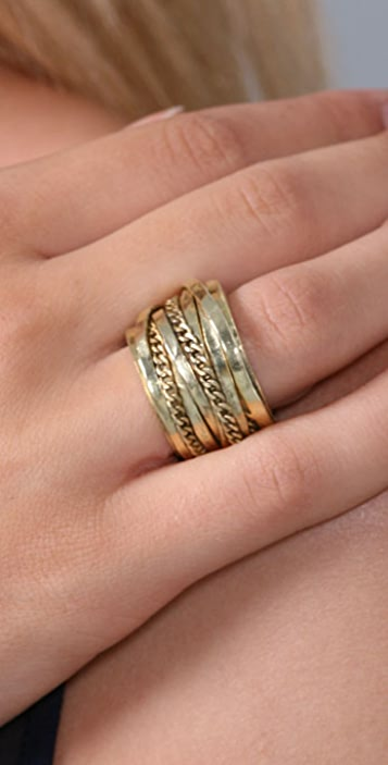 Citrine by the Stones Chain Wire Ring