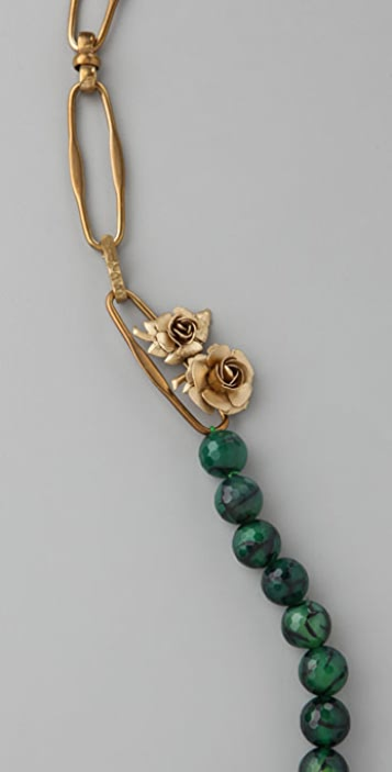 Citrine by the Stones Green Topaz Necklace