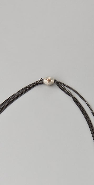 Citrine by the Stones Botswana Agate Tassel Necklace