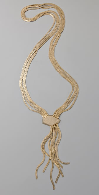 Citrine by the Stones Long Chain Facette Necklace