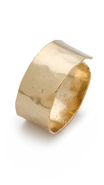 Citrine by the Stones Hammered Finger Band