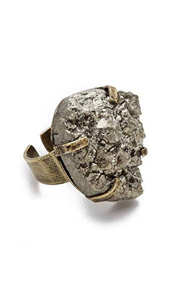 Citrine by the Stones Pyrite Ring