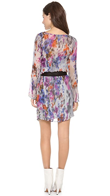 Charlie Jade Long Sleeve Printed Dress