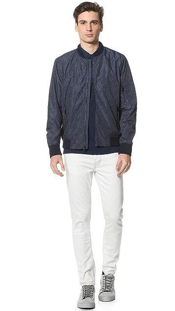 Calvin Klein Jeans Nylon Dot Aviator Jacket