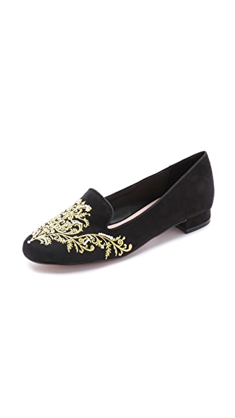 Carvela Kurt Geiger Embroidered Smoking Slippers