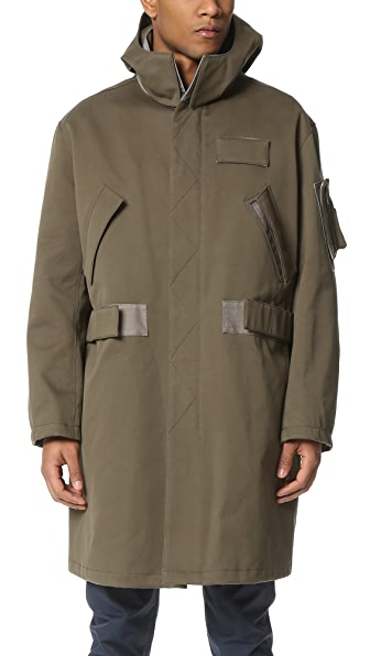 Calvin Klein Collection Laredo Bonded Cotton Parka