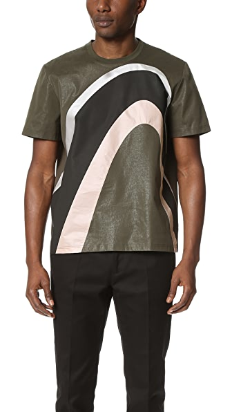 Calvin Klein Collection Laeski Bonded Cotton Tee
