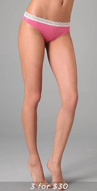 Calvin Klein Underwear Lace & Sheen Thong