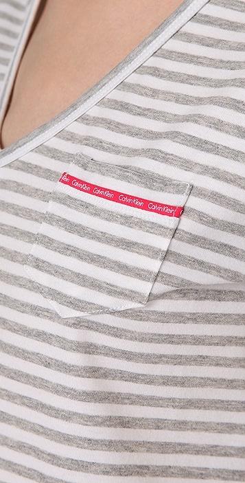 Calvin Klein Underwear CK One Striped Nightdress