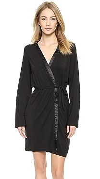 Calvin Klein Underwear Essentials with Satin Short Robe