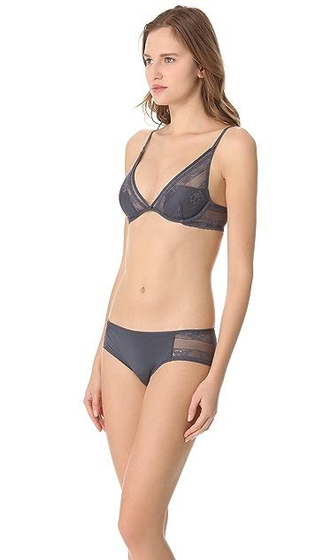 Calvin Klein Underwear Lace & Micro Lace Plunge Bra
