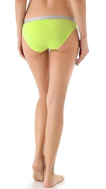 Calvin Klein Underwear Metallic Chrome Micro Bikini Briefs