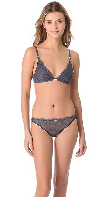 Calvin Klein Underwear Eyelash Chantilly Lace Triangle Bra