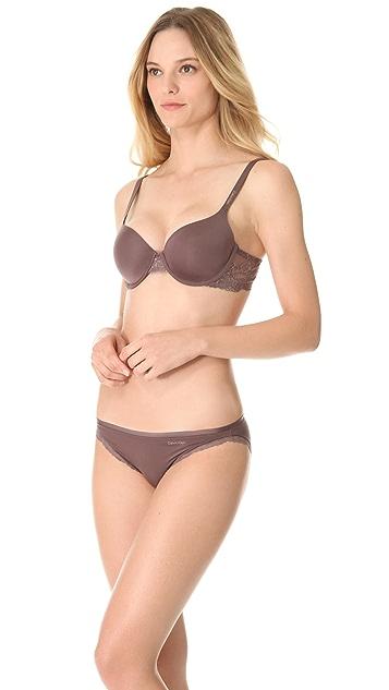 Calvin Klein Underwear Seductive Comfort with Lace Customized Lift Sexy Contour Bra
