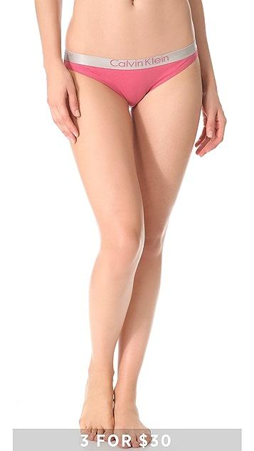 Calvin Klein Underwear Metallic Chrome Bikini Briefs