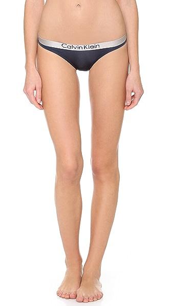 Calvin Klein Underwear Metallic Chrome Micro Bikini Panties