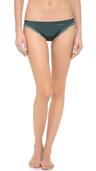 Calvin Klein Underwear Seductive Comfort Bikini Briefs with Lace