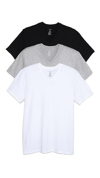 Calvin Klein Underwear 3 Pack Tricolor V Neck Undershirts