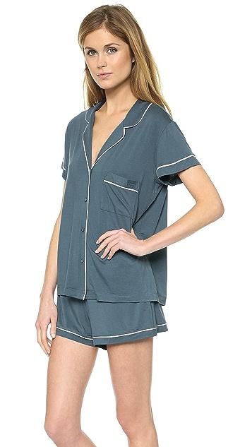 Calvin Klein Underwear Structure Short Sleeve PJ Top