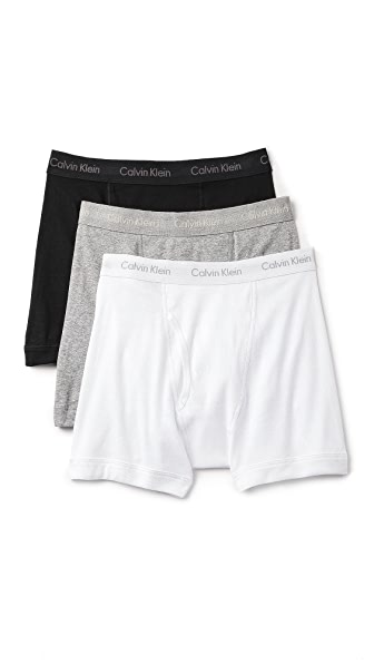 Calvin Klein Underwear 3 Pack Cotton Classic Boxer Briefs