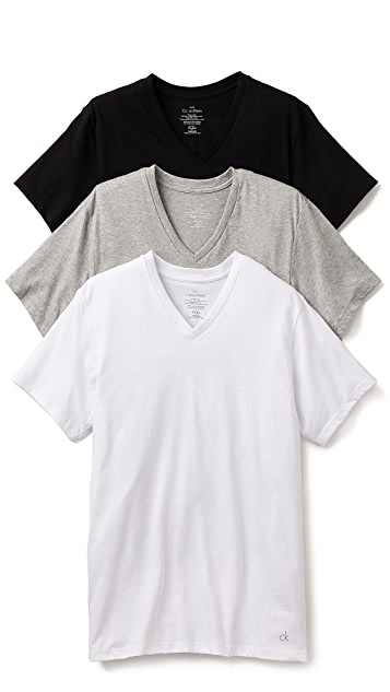 Calvin Klein Underwear 3 Pack Cotton Classic V-Neck T-Shirts