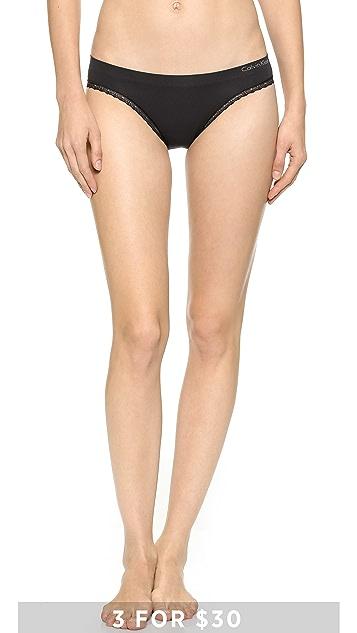 Calvin Klein Underwear Seamless Bikini with Lace