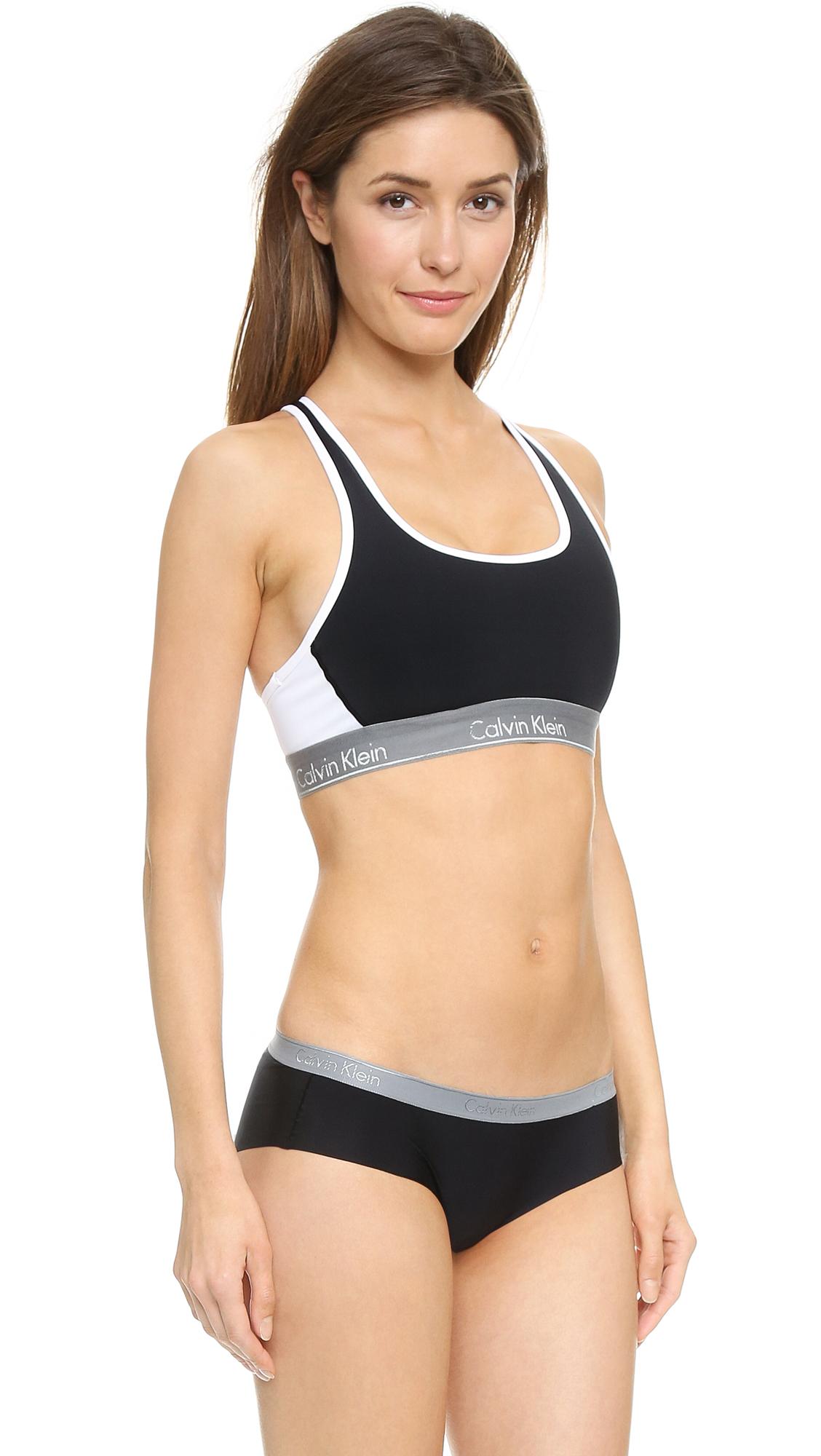 b174b27240 Calvin Klein Underwear Flex Motion Impact Racer Back Bra