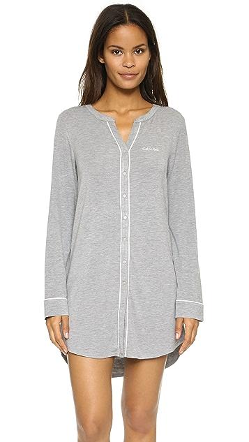 Calvin Klein Underwear Cozy Long Sleeve Night Dress