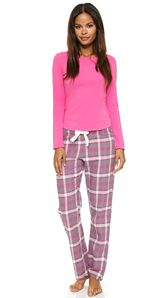Calvin Klein Underwear Flannel Mix Pajama Set