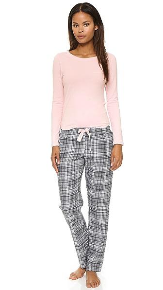 Calvin Klein Underwear Flannel Mix Pajama Set