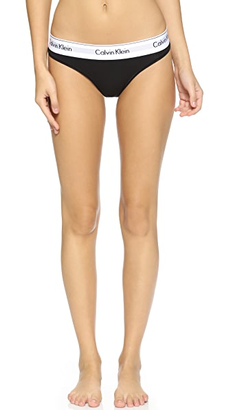Calvin Klein Underwear Modern Cotton Thong - Black