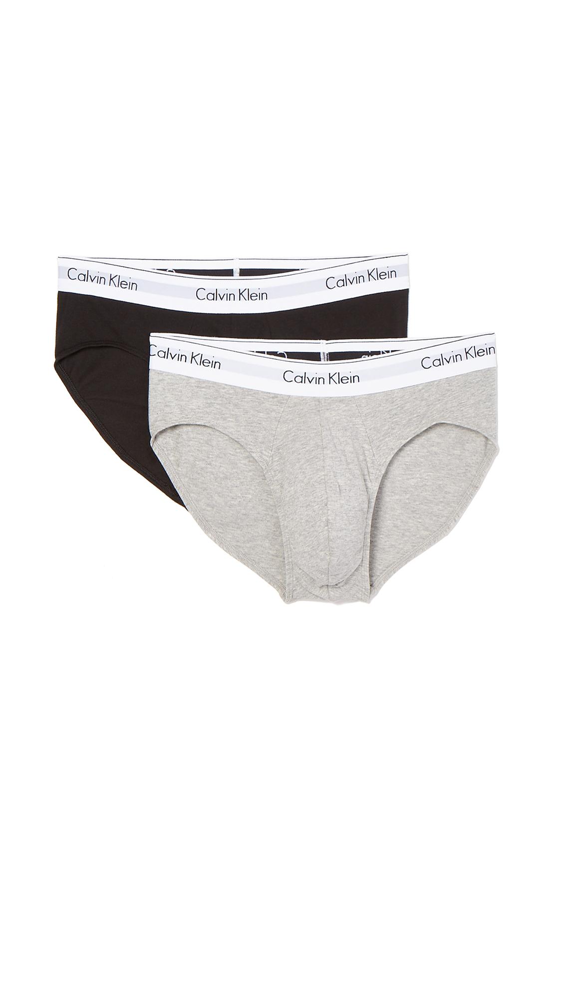 fdc2eaee3422 Calvin Klein Underwear CK 2 Pack Modern Cotton Stretch Hip Briefs ...