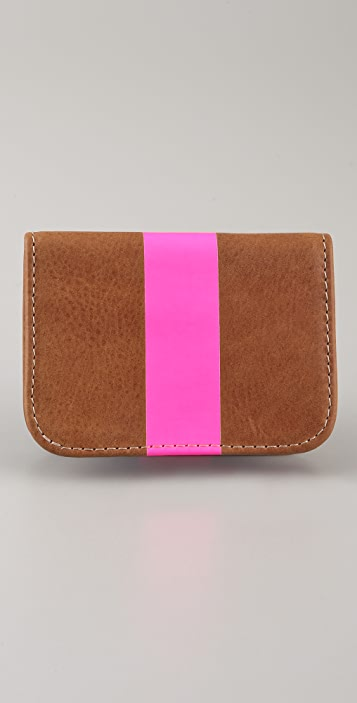 Clare V. Neon Stripe Card Case