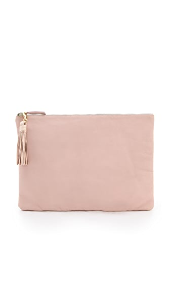 Clare V. Oversized Clutch with Tassels