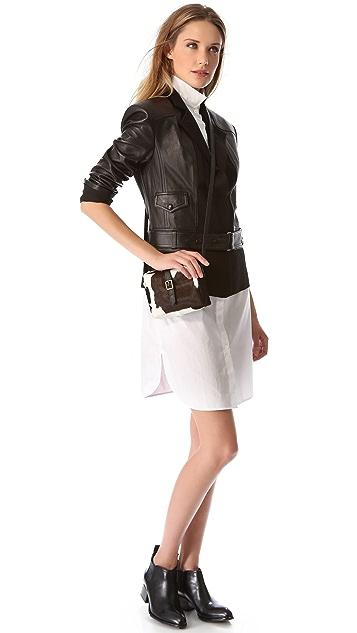 Clare V. Mini Haircalf Bag