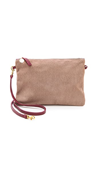 Clare V. Haircalf Cross Body Clutch