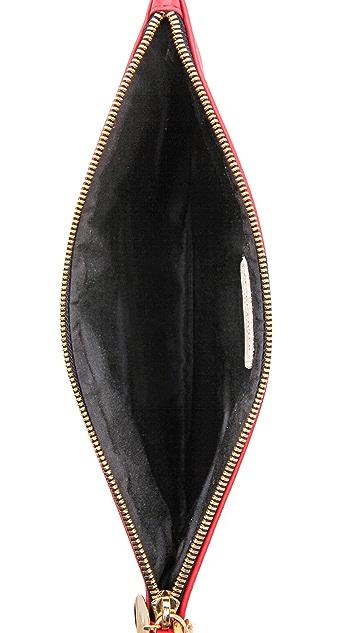 Clare V. Stripe Flat Clutch
