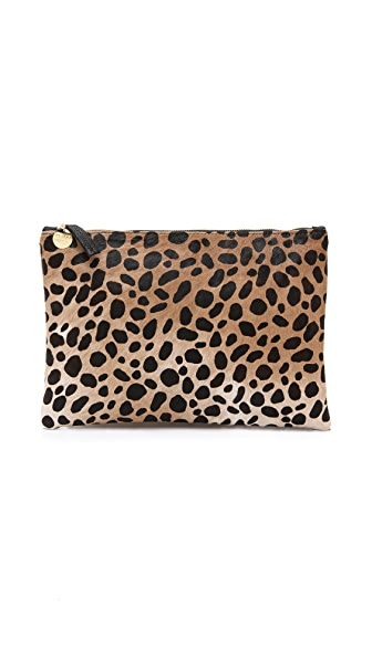 Clare V. Flat Haircalf Clutch