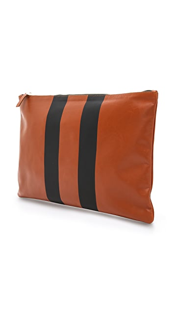 Clare V. Double Stripe Oversized Clutch