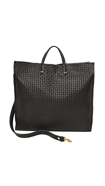 Clare V. Basket Weave Simple Tote