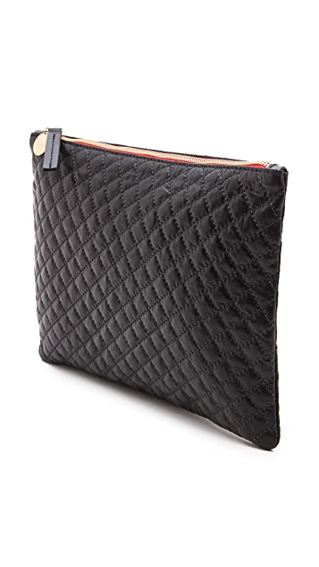 Clare V. Quilted Supreme Flat Clutch