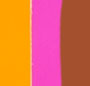 Cognac Amalfi with Pink/Orange