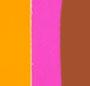 Cognac Amalfi with Pink/Orange