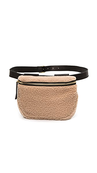 Clare V. Shearling Fanny Pack
