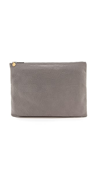 Clare V. Pebbled Oversize Clutch